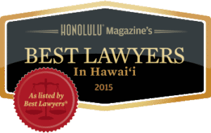 Honolulu Magazine Best Lawyers in Hawaii 2015