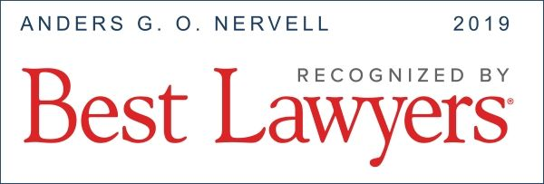 Best Lawyers 2019 Anders Nervell