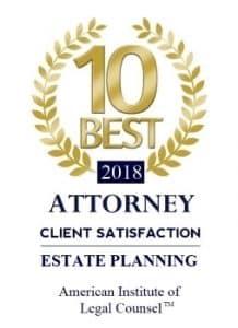 Estate Planning 10 Best Attorneys Award